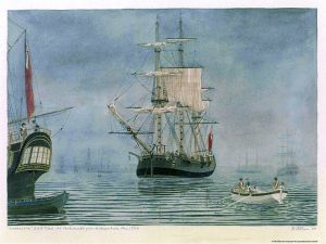 The Charlotte, the ship to which Susannah and baby Henry transferred in Cape Town.
