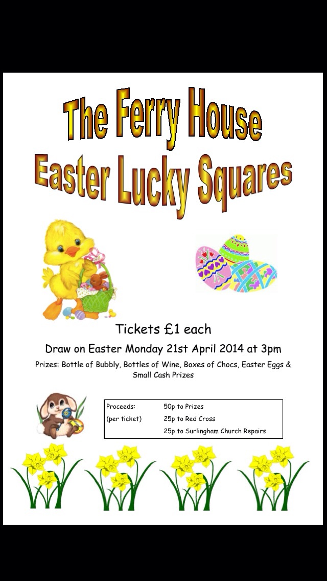 The Ferry House Easter Lucky Squares