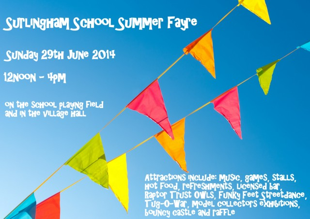 Get it in your diary - Surlingham School Summer Fayre is one month away!