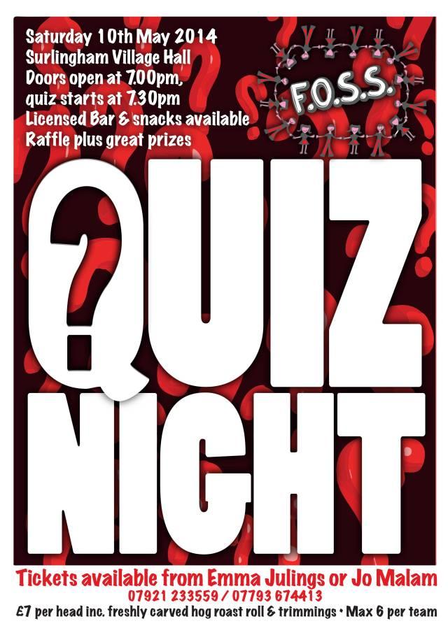 Don't miss tomorrow night's Quiz!