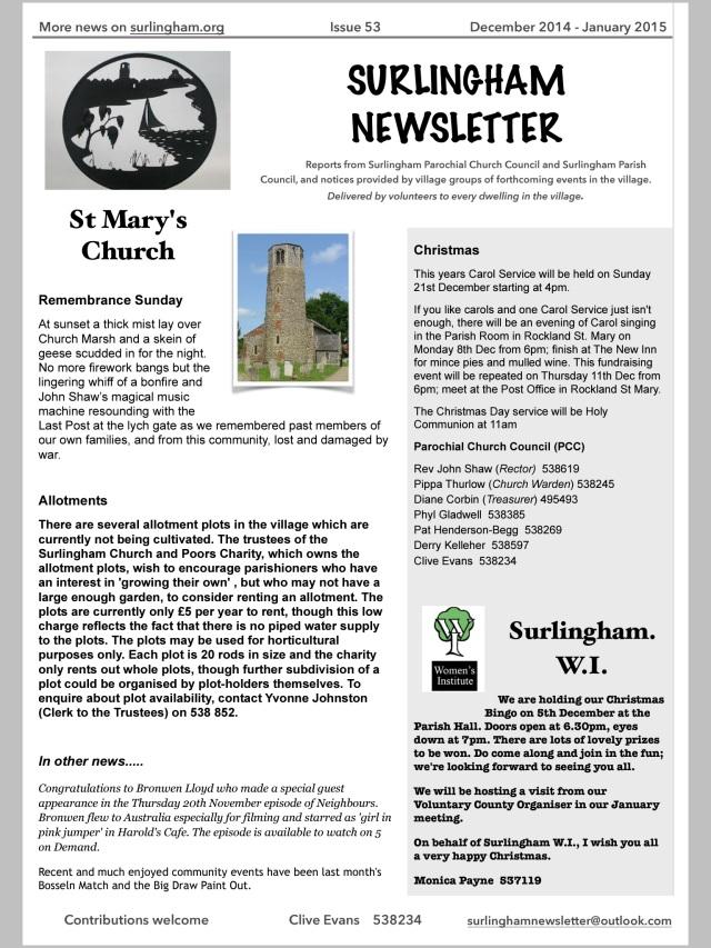Newsletter No.53 (December 2014 - January 2015)