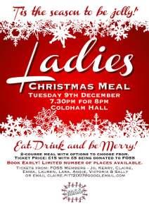 Ladies Xmas Meal Poster 2014