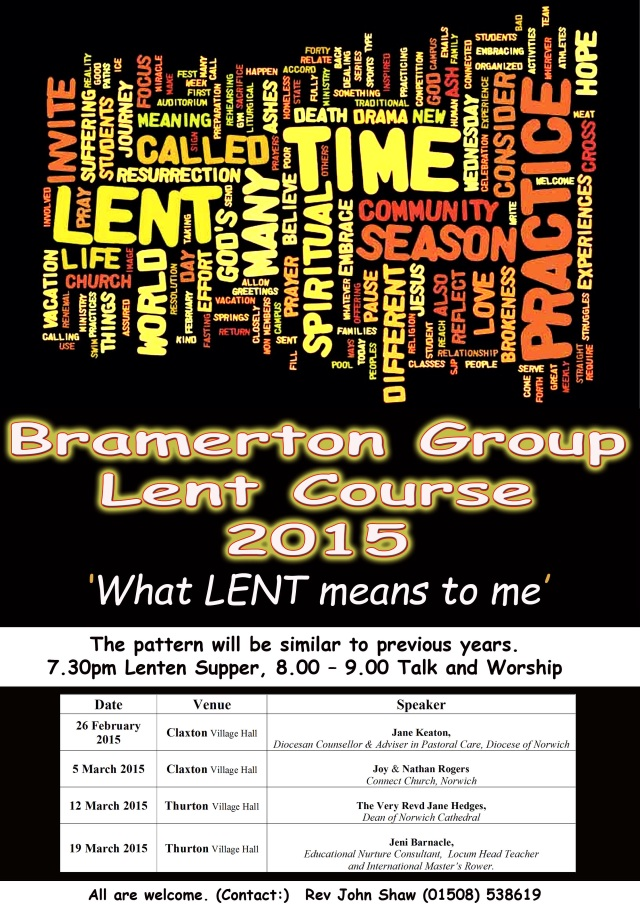 Bramerton Group Lent Course 2015