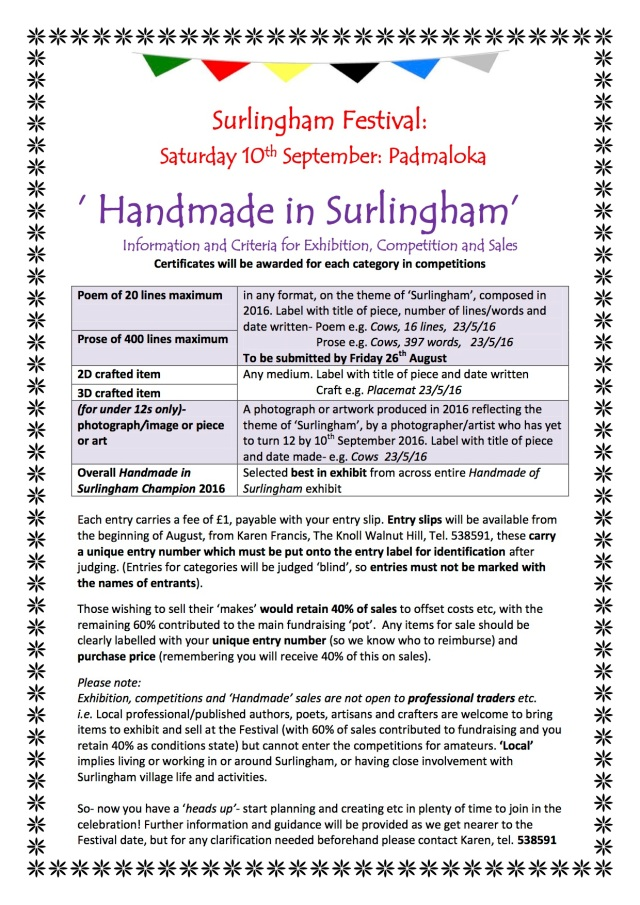Criteria for  Homemade in Surlingham