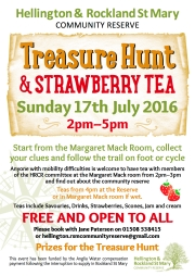 Hellington and Rockland St Mary Community Reserve Treasure Hunt