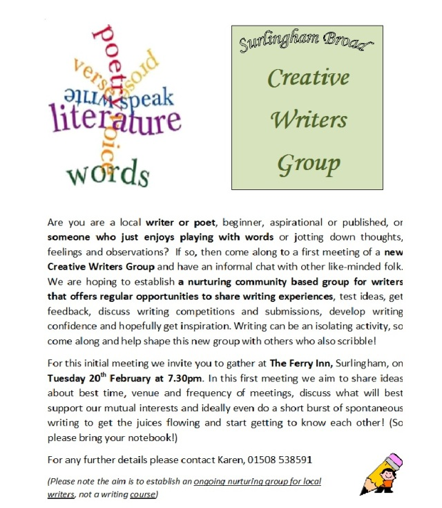 surlingham-broad-creative-writers-group-poster-2