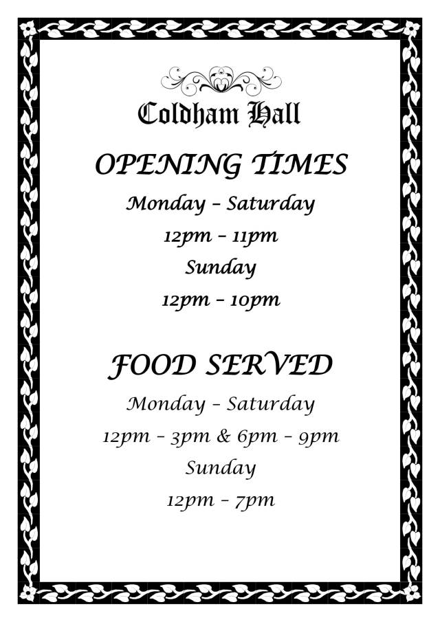 OPENING TIMES-1