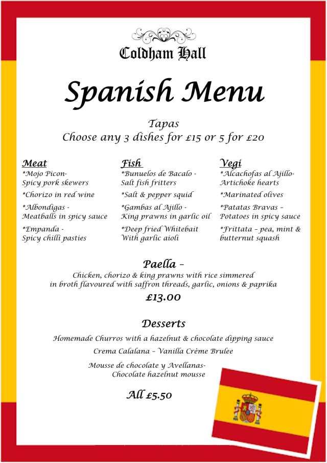 Spanish menu-1