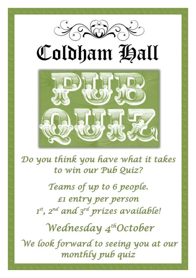 CH Quiz Night October-1