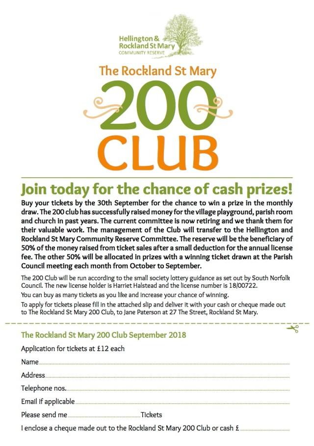 HRCR 200 club A5 flier